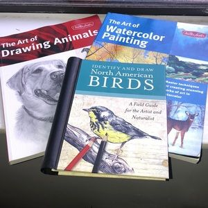 drawing animals, birds, and watercolour painting